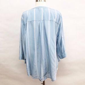 torrid Tops - torrid | stripe georgette pullover blouse sz 1X